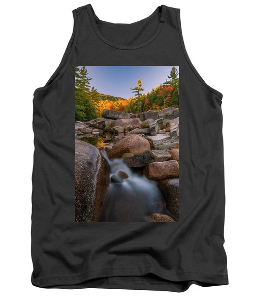 Tank Top featuring the photograph Fall Foliage In New Hampshire Swift River by Ranjay Mitra