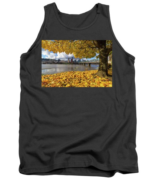 Fall Foliage With Portland Oregon City Tank Top