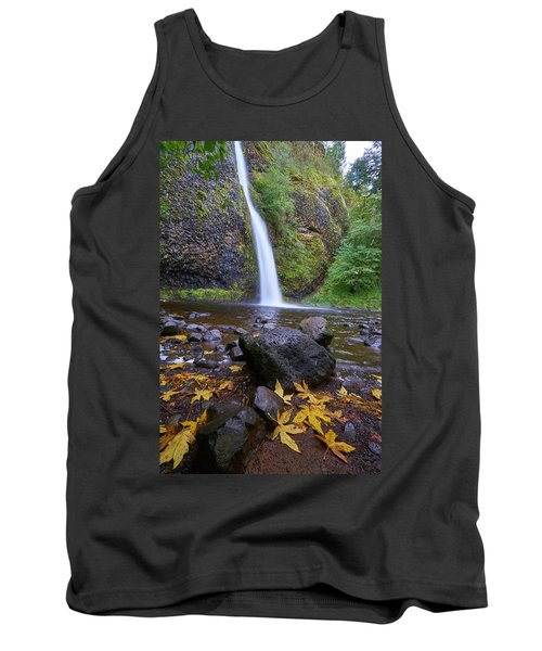 Tank Top featuring the photograph Fall Gorge by Jonathan Davison