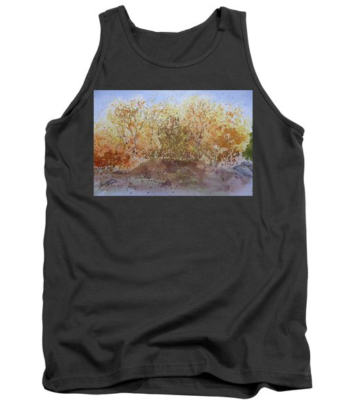 Tank Top featuring the painting Fall In The Tejas High Country by Joel Deutsch