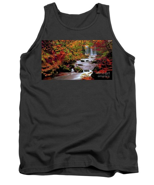 Tank Top featuring the painting  Fall It's Here by Rosario Piazza