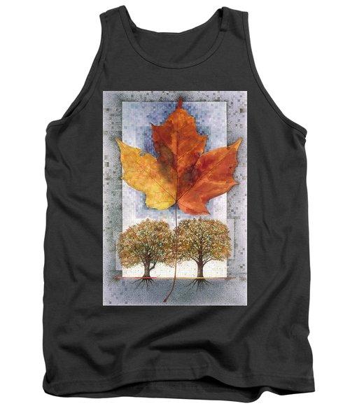 Fall Leaf Tank Top