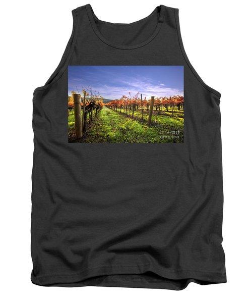 Fall Leaves At The Vineyard Tank Top