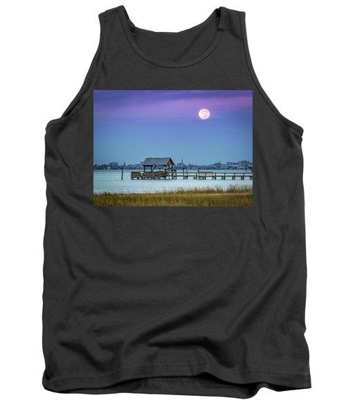 Fall Moon And King Tide - Charleston Sc Tank Top