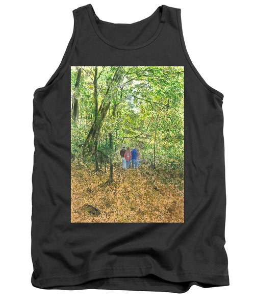 Tank Top featuring the painting Fall Nymphs - IIi by Joel Deutsch