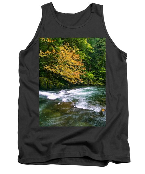 Fall On The Clackamas River, Or Tank Top