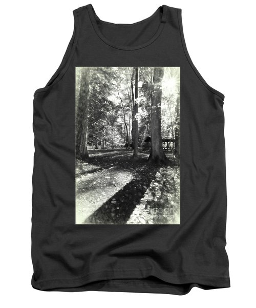 Fall Picnic Bw Painted Tank Top by Judy Wolinsky