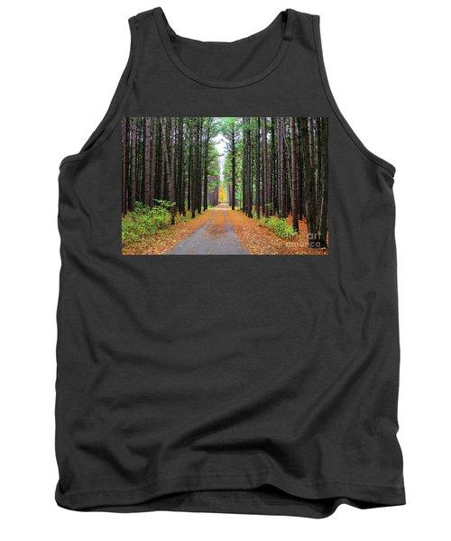 Fall Pines Road Tank Top
