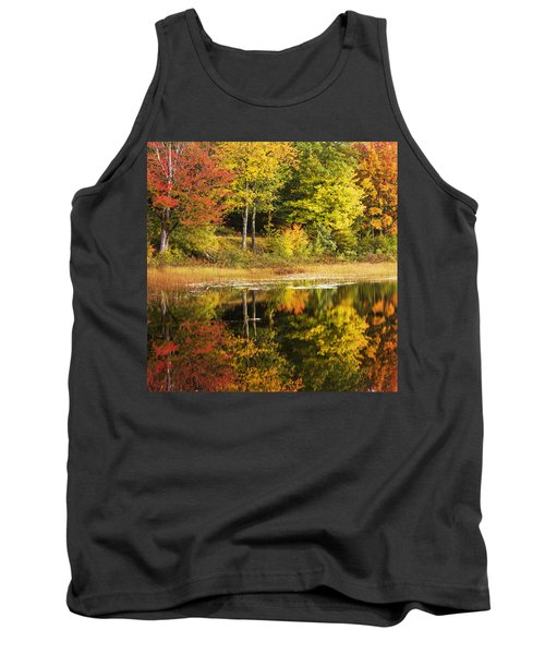 Tank Top featuring the photograph Fall Reflection by Chad Dutson