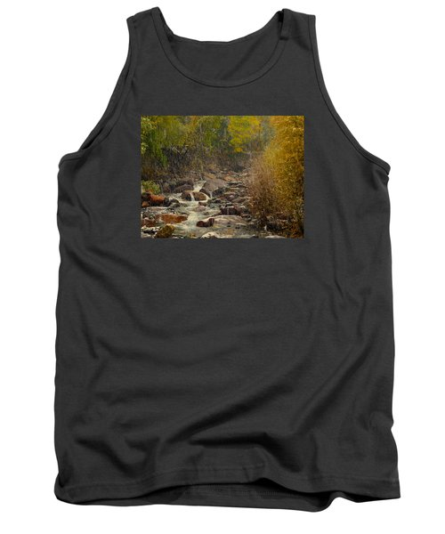 Tank Top featuring the photograph Fall Snow Storm by Laura Ragland