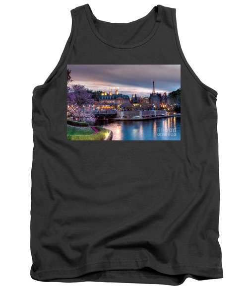 Fall Sunset Of France Tank Top