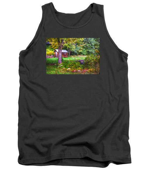 Falling Into Autumn Tank Top by Tricia Marchlik