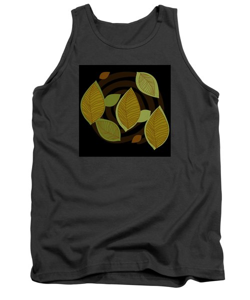 Tank Top featuring the drawing Falling Into Color by Kandy Hurley