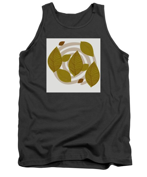 Tank Top featuring the drawing Falling Leaves by Kandy Hurley