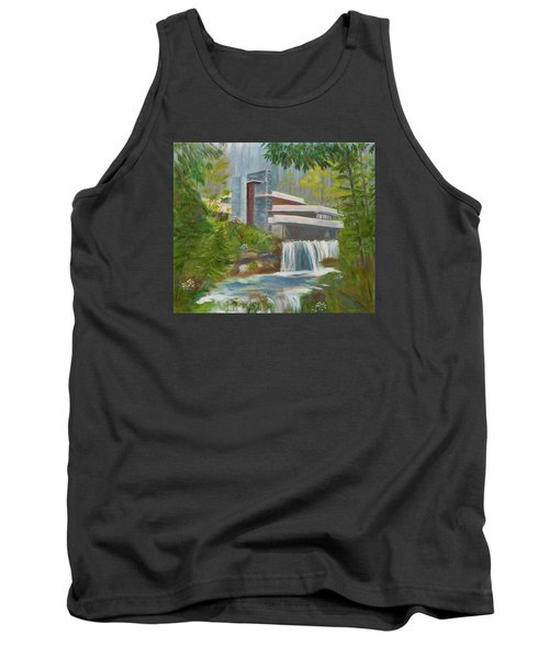 Tank Top featuring the painting Falling Water by Jamie Frier