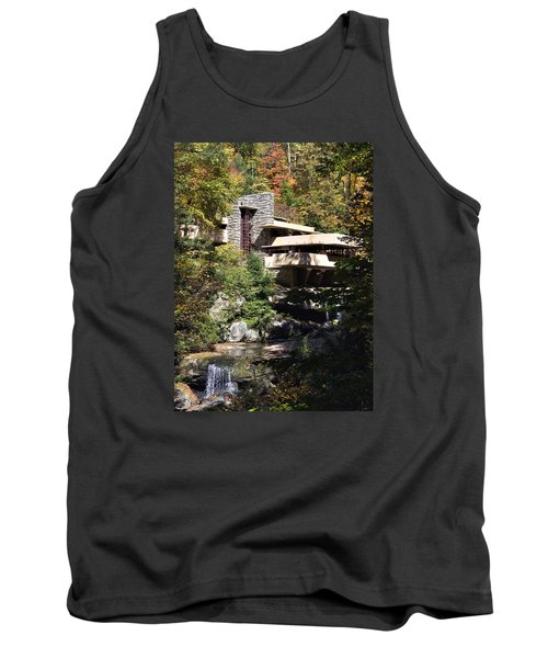 Fallingwater By Frank Lloyd Wright Tank Top by Brendan Reals
