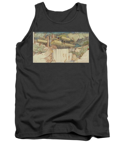 Fallingwater Pen And Ink Tank Top
