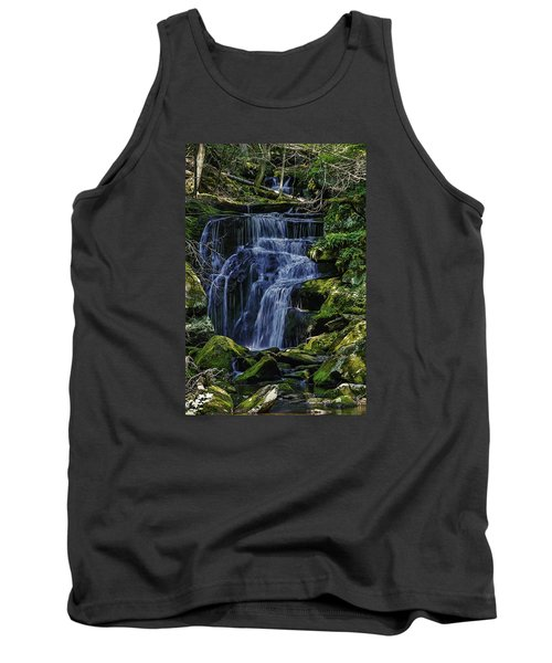 Falls In Vermont Mountain Stream  Tank Top