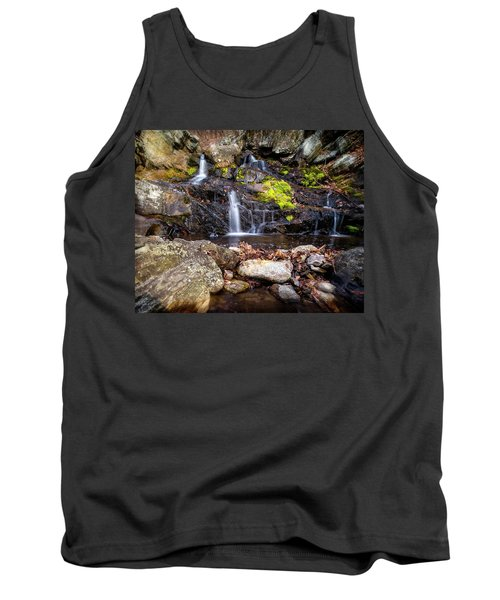 Tank Top featuring the photograph Falls Rocks Pools by Alan Raasch