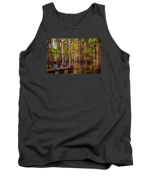 Family Bayou Fishing Tank Top by Ester  Rogers