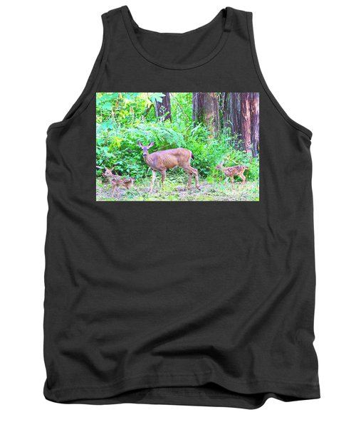 Family In The Wild Tank Top by Ansel Price