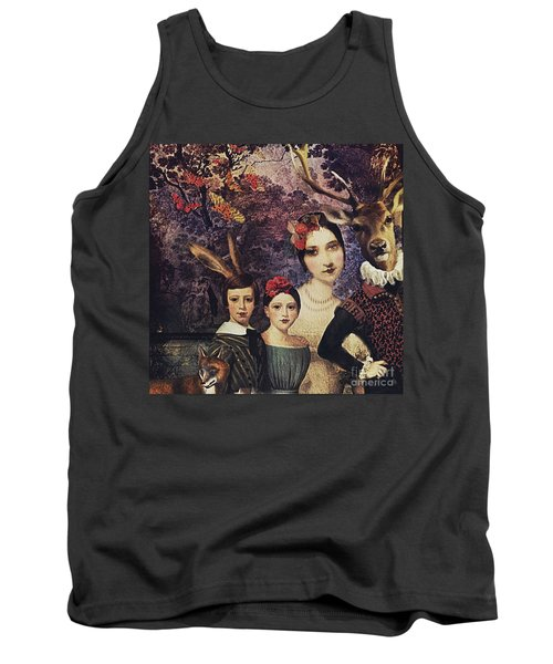 Tank Top featuring the digital art Family Portrait by Alexis Rotella