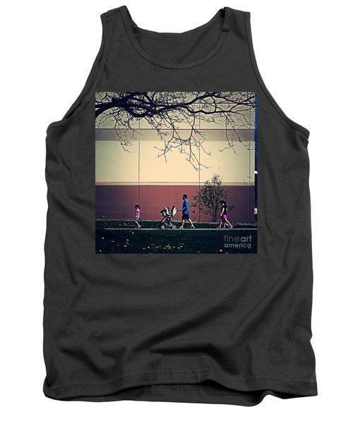 Family Walk To The Park Tank Top