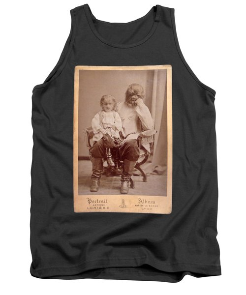 Famous Russian Sideshow Performer Jo-jo The Dog-faced Boy Tank Top by Celestial Images