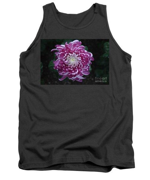 Fancy Chrysanthemum In Pink Tank Top