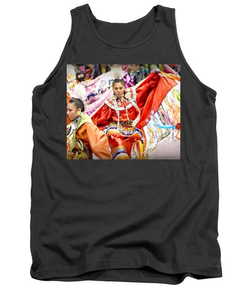 Tank Top featuring the photograph Fancy Shawl Dancers by Clarice Lakota