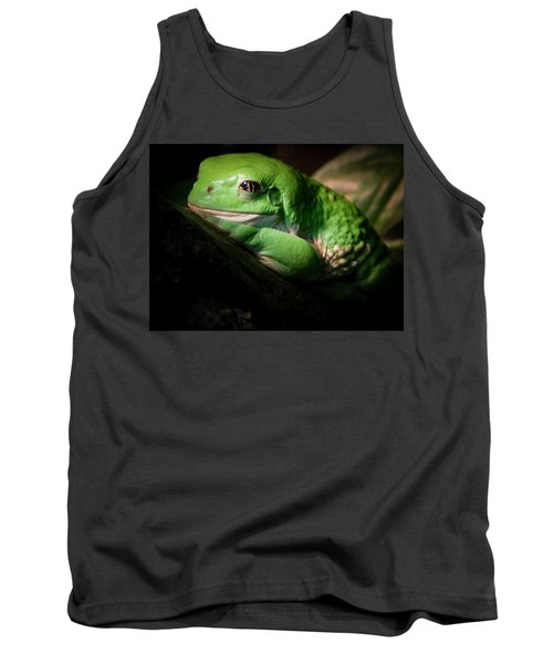 Tank Top featuring the photograph Fantastic Green Frog by Jean Noren