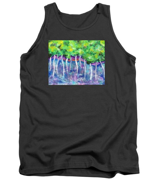 Tank Top featuring the painting Fantasy Forest by Elizabeth Fontaine-Barr