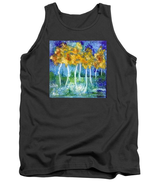 Tank Top featuring the painting Fantasy Glade by Elizabeth Fontaine-Barr