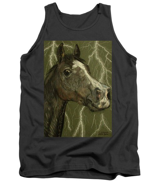 Tank Top featuring the drawing Fantasy Xanthus by Melita Safran
