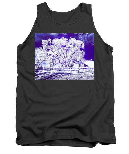 Farm In Suburbia With Wildcat Flare Tank Top