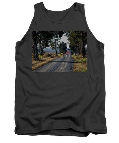 Tank Top featuring the photograph Farm Lane by Robert Geary