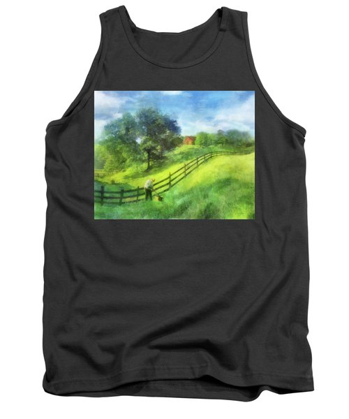 Farm On The Hill Tank Top by Francesa Miller