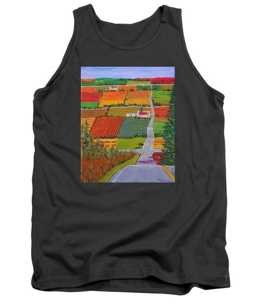 Country Farmland Quilt Tank Top