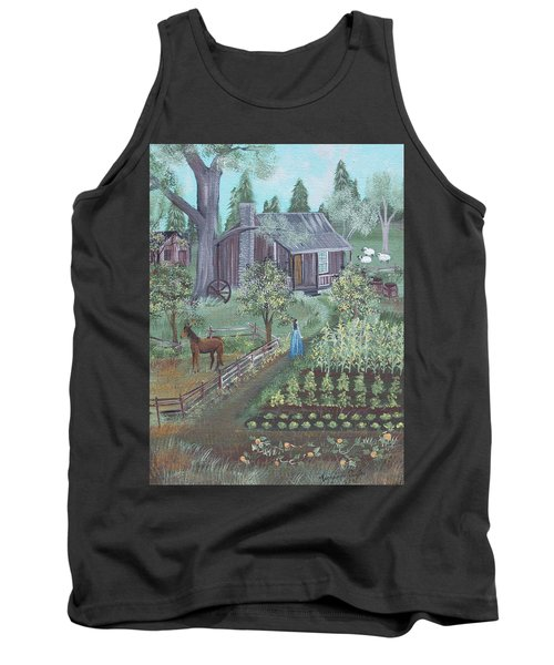 Tank Top featuring the painting Farmstead by Virginia Coyle