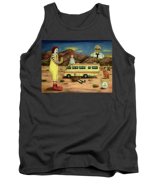 Tank Top featuring the painting Fast Food Nightmare 5 The Mirage by Leah Saulnier The Painting Maniac