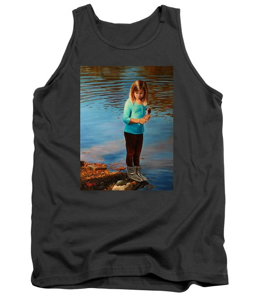 Tank Top featuring the painting Fast Friends by Glenn Beasley