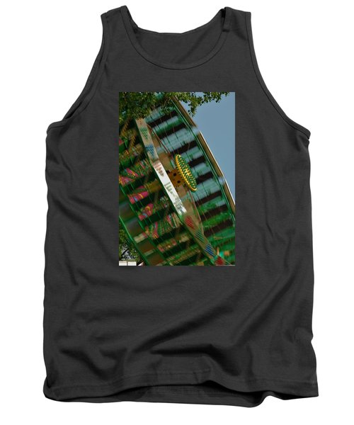 Tank Top featuring the photograph Faster And Faster We Go by Ramona Whiteaker