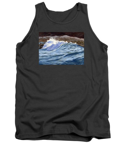 Tank Top featuring the painting Fat Wave by Lawrence Dyer