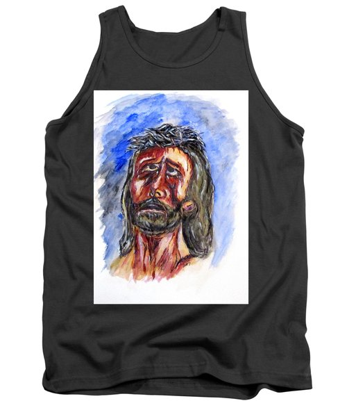 Father Forgive Them Tank Top by Clyde J Kell