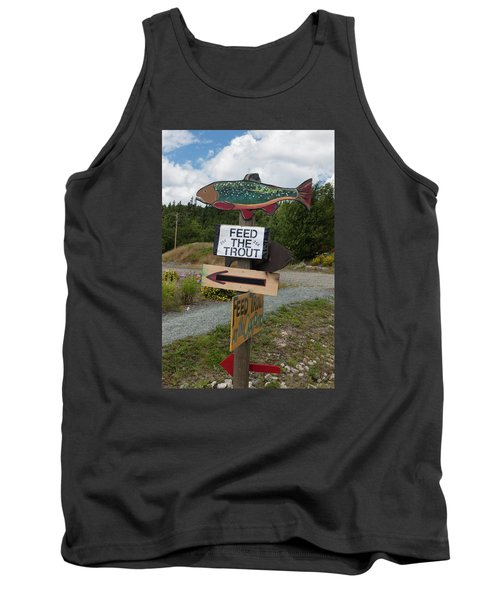 Feed The Trout Tank Top by Suzanne Gaff