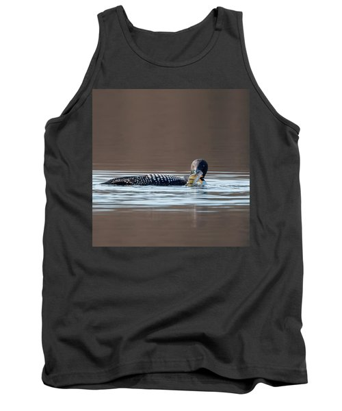 Feeding Common Loon Square Tank Top by Bill Wakeley