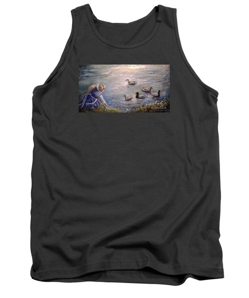 Feeding Time Tank Top by Patricia Schneider Mitchell