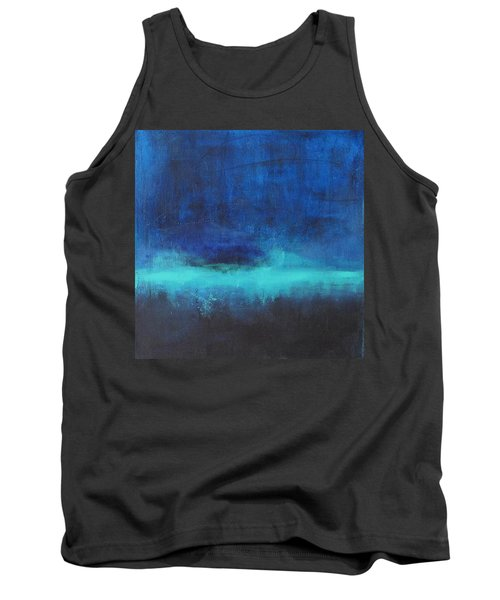 Tank Top featuring the painting Feeling Blue by Nicole Nadeau