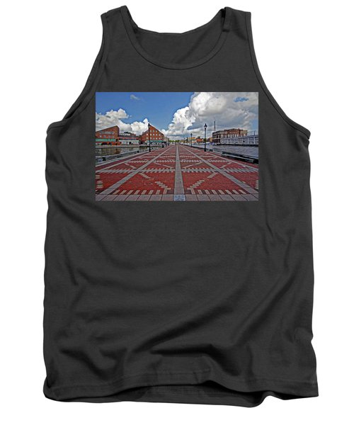 Tank Top featuring the photograph Fells Point Pier by Suzanne Stout