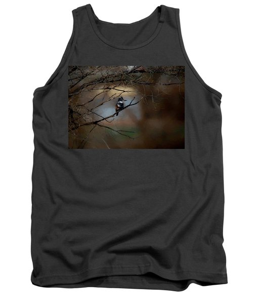 Tank Top featuring the digital art Female Belted Kingfisher 3 by Ernie Echols